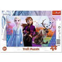 Puzzle, Puzzle ramkowe 15 Magiczny świat Anny i Elsy TREFL