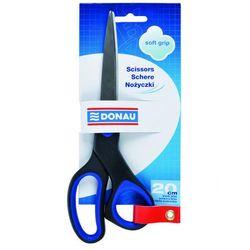 Nożyczki biurowe DONAU Soft Grip, 20cm, niebieskie
