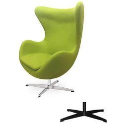 Fotel Jajo EGG CLASSIC - 3 kolory nóżek - wełna - Zielone jabłuszko