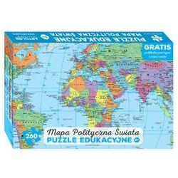 Mapa polityczna świata Puzzle edukacyjne dla dzieci: Wiek 5+. Gratis podkładka pod mysz z mapą świata
