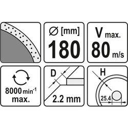 Tarcza diamentowa, segment ciągły, 180x25,4 mm Yato YT-6016 - ZYSKAJ RABAT 30 ZŁ