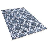 Dywany, Dywan niebieski - 140x200 cm - chodnik - mata - bawełna - Adiyaman