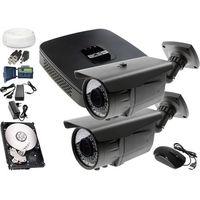 Zestawy monitoringowe, Zestaw do monitoringu: Rejestrator BCS-XVR0401E, 2x Kamera LV-AL60HVT, 1TB, akcesoria