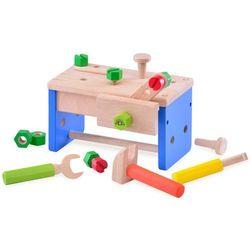 Wonderworld Zabawkowy stół warsztatowy z drewna, 2w1, HOUT192432 Darmowa wysyłka i zwroty