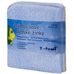 T-tomi Bambusowe myjki do kąpieli, 4 szt. - niebieski