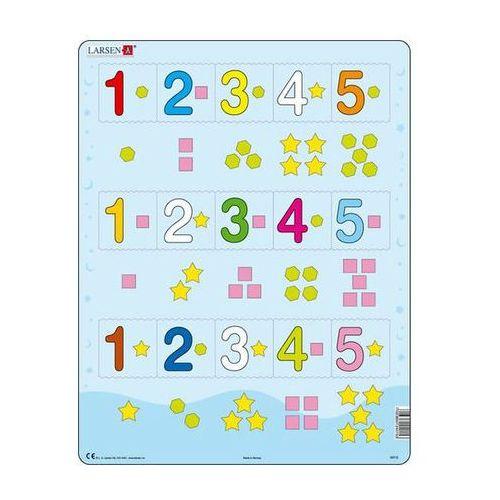 Puzzle, Puzzle MAXI - Čísla 1-5 s grafickými znaky/15 dílků neuveden