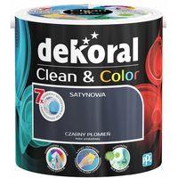 Farby, Satynowa farba lateksowa Dekoral Clean&Color czarny płomień 2 5 l