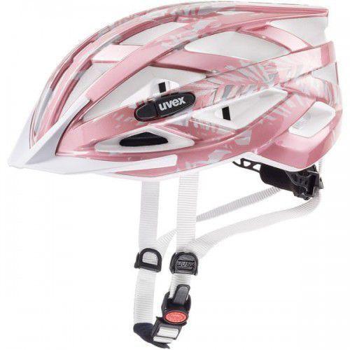 Kaski i gogle, UVEX kask rowerowy Air wing 52-57 cm różowo-biały