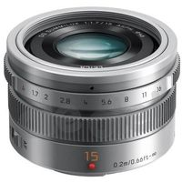 Obiektywy fotograficzne, Panasonic H-X015E 15 mm f/1,7 (srebrny) - produkt w magazynie - szybka wysyłka!