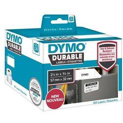Oryginalne etykiety polipropylenowe DYMO LW 1933084 durable 32mm x 57mm białe/czarny nadruk