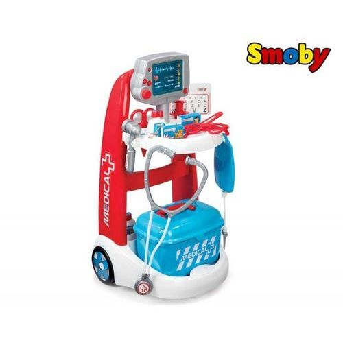 Stetoskopy, Smoby Elektroniczny Wózek Lekarski dźwięk + Stetoskop w zestawie