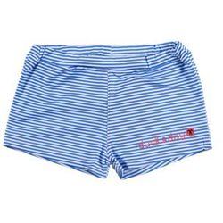 Spodenki kąpielowe dziewczęce Ducksday UV50+ biało niebieskie paski