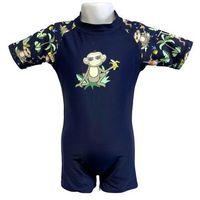 Stroje kąpielowe dla dzieci, Strój kąpielowy kombinezon dzieci 108cm filtr UV50+ - Navy Jungle \ 108cm
