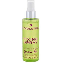 Makeup Revolution London I Heart Revolution Fixing Spray Green Tea utrwalacz makijażu 100 ml dla kobiet