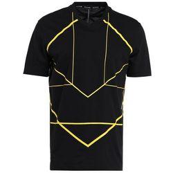 Neil Barrett BLACKBARRETT SYMMETRIC LINES Tshirt z nadrukiem black/yellow