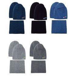 Komplet ajs 40-507 czapka+komin dwustronna rozmiar: 52-56, kolor: wielokolorowy, ajs
