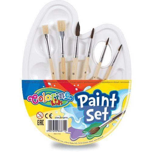 Pozostałe artykuły szkolne, Zestaw do malowania paletka colorino kids