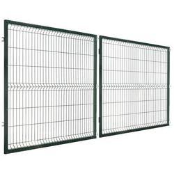 Brama dwuskrzydłowa STARK 400 x 150 cm zielona POLBRAM