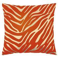 Poduszki, Bellatex Poduszka - jasiek Leona – zebra wanilia, pomarańcz, 45 x 45 cm