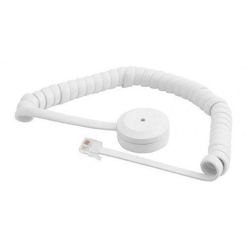 Czujki alarmowe, GD 335-S Czujka zbicia szyby z białym spiralnym kablem Alarmtech