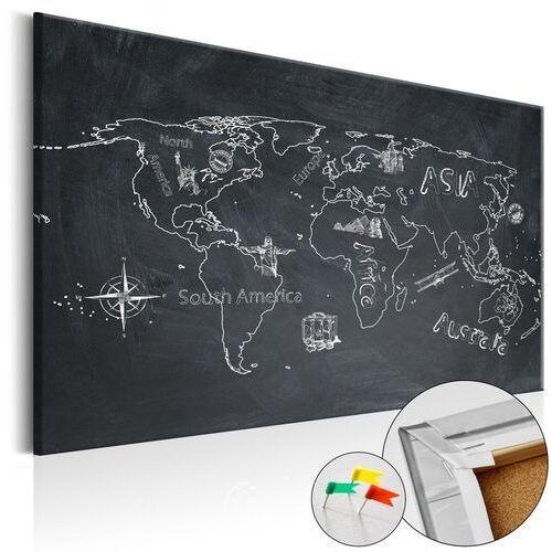 Obrazy, Obraz na korku - Podróże kształcą [Mapa korkowa]