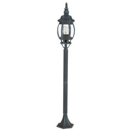 Lampy ogrodowe, Lampa stojąca Eglo Oudoor 4172 Classic oprawa zewnętrzna 1x60W E27 czarna/zielona IP44