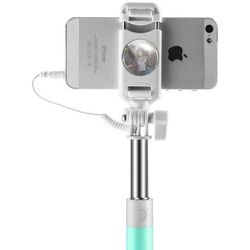 PRODA PP-P6 wysięgnik monopod selfie stick z kablem i przyciskiem niebieski