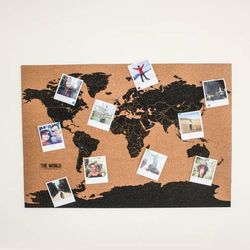 Mapa Świata korkowa