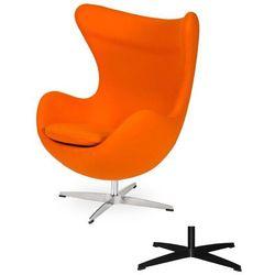 Fotel Jajo EGG CLASSIC - 3 kolory nóżek - wełna - Marchewkowy pomarańczowy