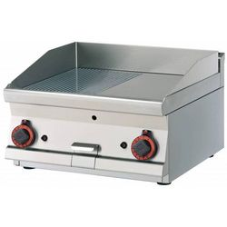 Płyta grillowa gazowa gładka | 595x450mm | 9000W | 600x600x(H)280mm
