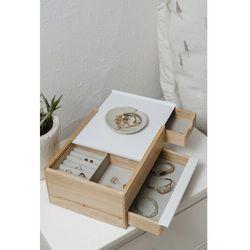 Umbra - pudełko na biżuterię mini stowit - drewno naturalne/biały