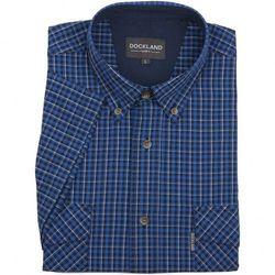 Niebieska koszula Dockland w kratkę, z krótkim rękawem