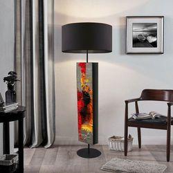 Abstrakcyjna inspiracja - ekskluzywna ręcznie rzeźbiona lampa podłogowa rabat 40%