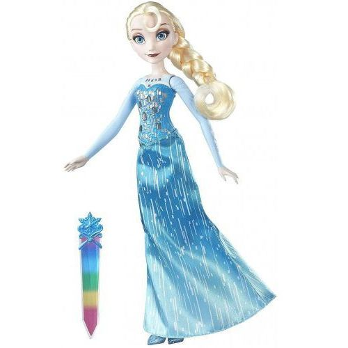 Lalki dla dzieci, Lalka Elsa Kraina Lodu Frozen Świecąca B6163 Hasbro
