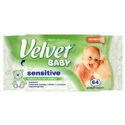 Velvet Chusteczki nawilżane dla niemowląt Sensitive 64szt