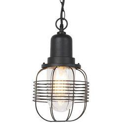 Rustykalna zewnętrzna lampa wisząca czarna IP44 - Guardado