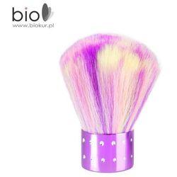 Pędzelek do pyłu Nails Company - fioletowy z kolorowym włosiem