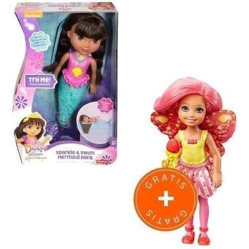 Lalki dla dzieci, Dora Magiczna pływaczka Syrenka + Chelsea GRATIS