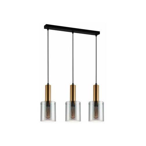 Lampy sufitowe, Italux Sardo PND-5581-3-BRO+SG lampa wisząca zwis 3x40W E27 mosiężny/dymiony