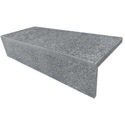 Schody granitowe szer. 80 cm ciemnoszare płomieniowane komplet (stopnica + podstopnica)