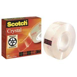Taśma klejąca 3M Scotch Crystal 19mmx33m transparentna 600