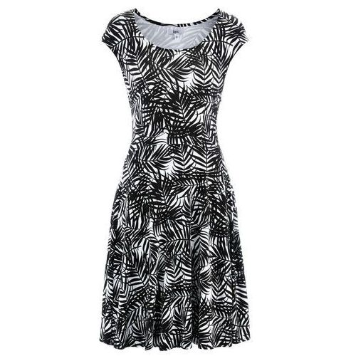 Suknie i sukienki, Sukienka bonprix biało-czarny z nadrukiem