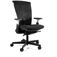 Fotele i krzesła biurowe, Fotel Unique REYA czarny siatka RS01 czarna - wysuw siedziska - ZŁAP RABAT: KOD100