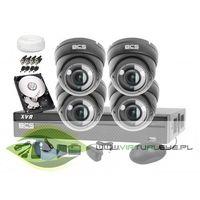 Zestawy monitoringowe, Zestaw do monitoringu: BCS-XVR0801+ 4x Kamera BCS-DMQ4200IR3+ Dysk 1TB + Akcesoria