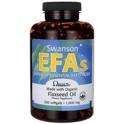 Olej z siemienia lnianego Flaxseed Oil EFAs 1000mg 200 kapsułek Swanson