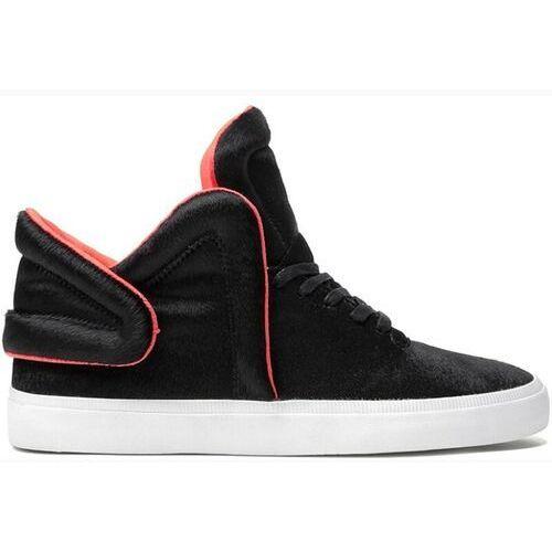 Męskie obuwie sportowe, buty SUPRA - Falcon Black/Neon Orange (BLK) rozmiar: 44