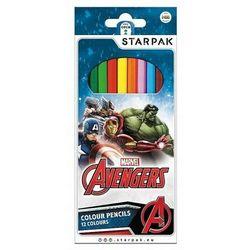 Kredki ołówkowe 12 kolorów Avengers 356490 - Starpak