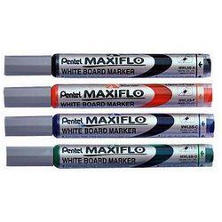 Marker suchościeralny MAXIFLO (z tłoczkiem), okrągła końcówka, Pentel MWL5SD zielony