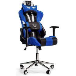 Fotel DIABLO CHAIRS X-Eye Czarno-biało-niebieski + Zamów z DOSTAWĄ JUTRO!