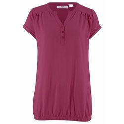 Shirt kopertowy 2 w 1, długi rękaw bonprix czarny